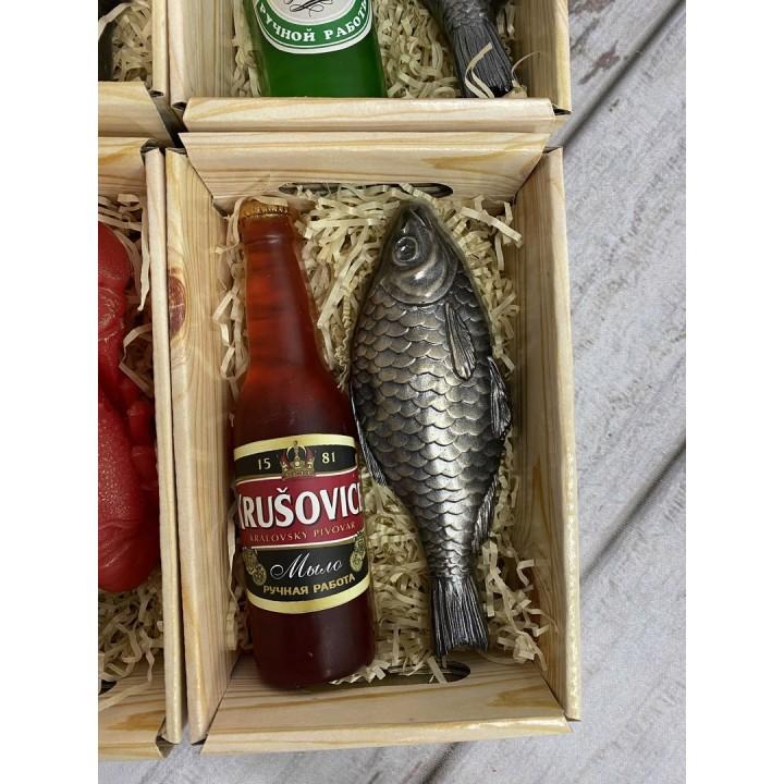 Подарочный пивной набор с рыбкой 1 из мыла
