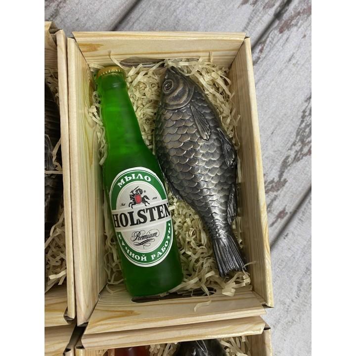Подарочный Пивной набор с рыбкой 2 из мыла