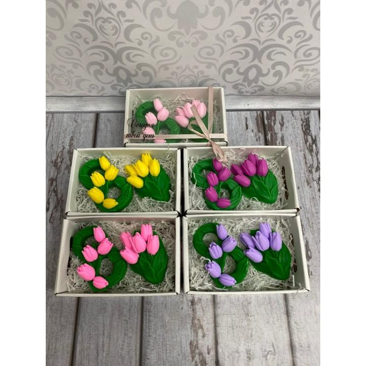 Наборы 8 марта с тюльпанами