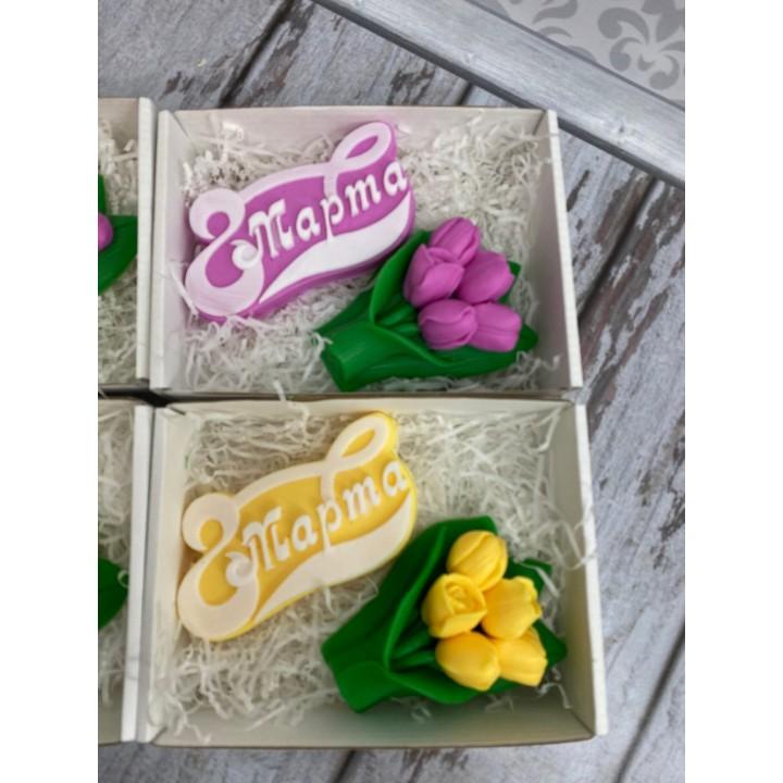 Набор 8 марта с тюльпанами 2